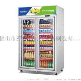 重庆豪华款两门展示柜/双边框展示柜
