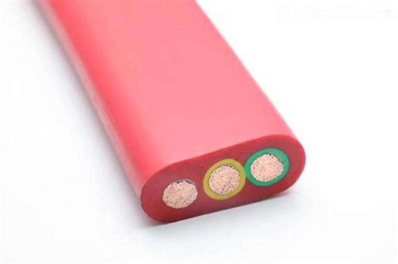 YFGCB抗拉耐磨矽橡 膠扁電 纜