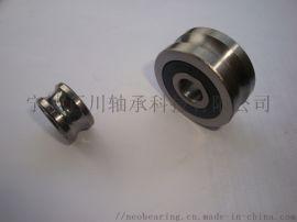 SLFR5302NPP 不锈钢圆弧槽导轨滚轮