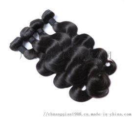 巴西真人发帘 蛇曲9A Brazilian human hair body wave Bundles