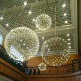 圓球吊燈 商場中庭LED火花圓球吊燈工廠大堂大廳LED煙火花滿天星火花吊燈