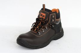 工厂安全防护鞋防砸防臭透气轻便修面皮钢头劳保鞋工厂