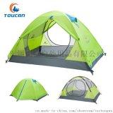 图橙户外TRZP997双人搭建式露营扎专业户外帐篷