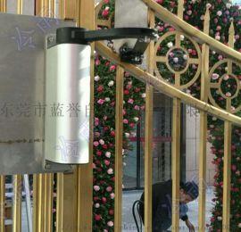 冷雨曲臂式平开电动门厂家电话 侧装小区广告门电机