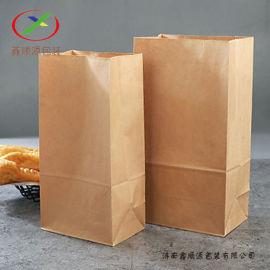 供应食品外卖打包纸袋通用方底白色牛皮纸袋礼品袋包装
