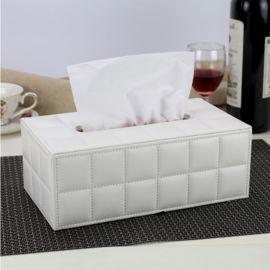 羊皮紋家用酒店抽紙盒訂製宣傳餐巾紙盒車用皮革紙巾盒