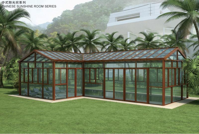 豪華別墅花園陽光房鋁合金玻璃房定製