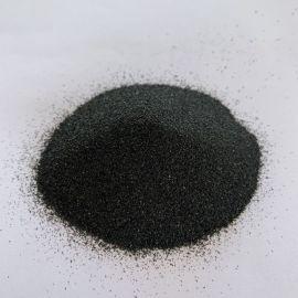 供应黑色金刚砂 黑刚玉喷砂 磨料黑色砂 黑色石英砂
