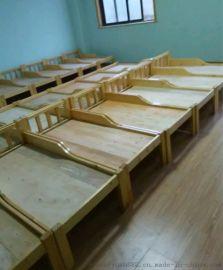 成都康定幼儿园实木午休床/实木单人床质保三年
