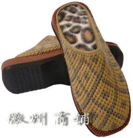 手工男式双色保暖拖鞋-001