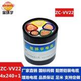 金环宇电力电缆阻燃铜芯电缆ZC-VV22 4*240+1*120铜价怎么样?