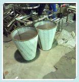 定制欧式不锈钢花盆  酒店花器摆放园艺绿化圆形花盆