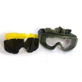 抗衝擊防彈野戰cs眼鏡 戶外戰術射擊鏡