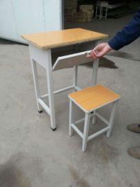 新款正奥校具带锁单人学生课桌椅