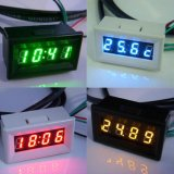 合祥汽车电压表时钟0.30数码显示汽车三合一仪表时间+温度+电压-汽车电压测试仪