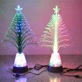 USB光纤圣诞树 电子灯 七彩变色礼物 节日装饰礼品 宝石小夜灯