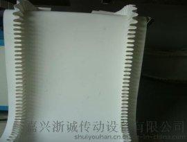 pu白色食品级输送带 挡边输送带