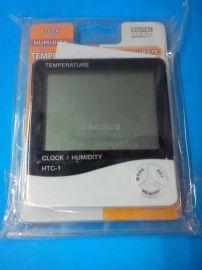 HTC-1电子数显温湿度计/带闹钟功能/温度计范围:-50℃~+70℃温度计