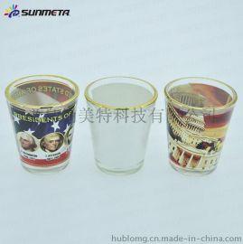 金边热转印小酒杯 1.5oz玻璃酒杯 热转印涂层玻璃酒盅 定制图案