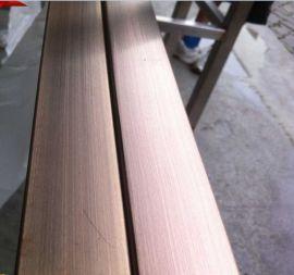 广州拉丝无指纹不锈钢管 钛金不锈钢方通(优质新品)