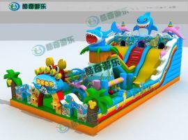 儿童充气蹦床城堡,大型海底世界充气蹦床