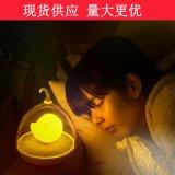 七月創意小夜燈充電 鳥籠燈 臥室牀頭睡眠小檯燈 節能創意夜燈