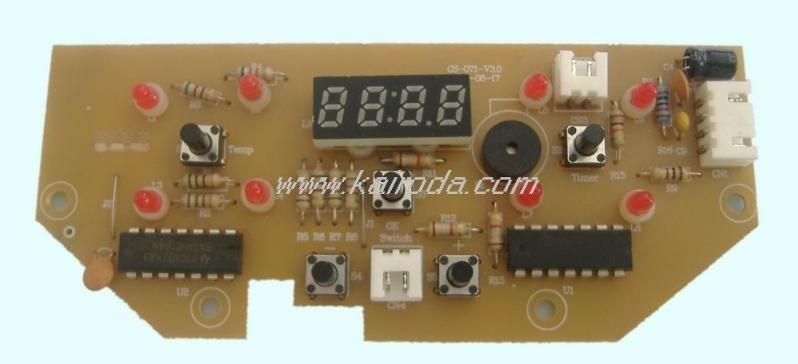 LED数码显示器多功能煲控制板PCB电路板线路板电子产品开发设计