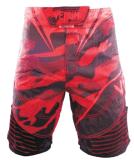 格鬥短褲 MMA短褲 健身房 武館訓練短褲 紅色短褲