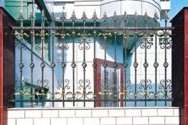 安庆伟创铁艺护栏 锌钢铁艺护栏 铁艺阳台栏杆