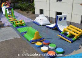 大型充气儿童水上乐园设施 组合滑梯设备 支架钢架游泳池产品规划