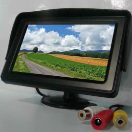 加尼鹰4.3寸车载显示器 液晶显示器 汽车倒车影像 吸盘支架安装 遮阳板 小型监视器 RCA+DC电源 9V~35v