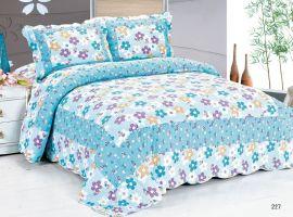 全棉印花床盖三件套水洗被绗缝被四件套儿童被单件批发厂家销