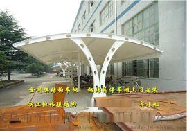 弥勒厂房汽车停车棚、文山膜结构雨棚效果图
