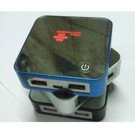 厂家直销 金属魔方移动电源带背光外壳 套料 双USB输出 数显