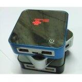廠家直銷 金屬魔方移動電源帶背光外殼 套料 雙USB輸出 數顯