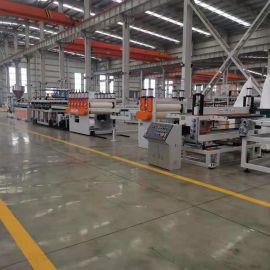 金韦尔机械PVC木塑建筑模板设备生产线