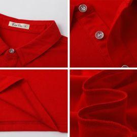 夏季韩版纯色男女全棉纯色翻领POLO衫工作服可来图印制企业LOGO