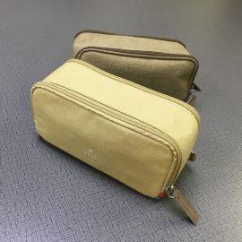 厂家定制气质尼龙布双拉链化妆包男女双面旅行洗漱收纳包手提包