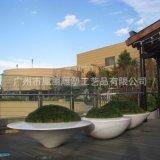 大型创意新型落地式组合花器 玻璃钢广场绿化工程