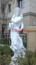 精工雕刻西方人物,汉白玉精雕城市广场人物雕塑