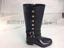 2015新款雨鞋揭阳厂家供应女款时尚高筒雨靴