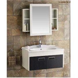 加西格乐-居然居太空铝浴室柜ss-812推拉镜陶瓷盆