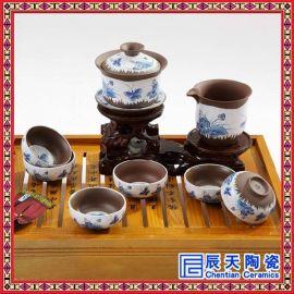 陶瓷茶壶套装家用青花瓷茶具景德镇功夫茶具茶壶套装