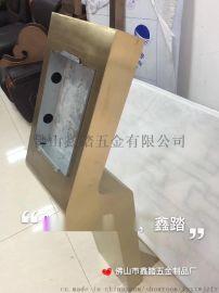门口感应机不锈钢支架,门口机立柱图
