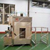山东优质熏鸡机器生产厂家,华钢50kg熏鸡设备功能