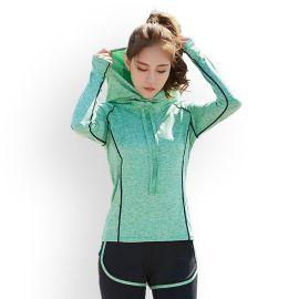 新款跑步健身瑜伽服运动外套女宽松排汗速干带帽衫爆款运动帽衫女