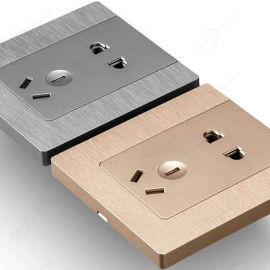**家用装饰墙壁开关插座 一位开关 五孔插座