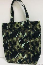 供应防水迷彩料牛津布购物袋  迷彩购物袋