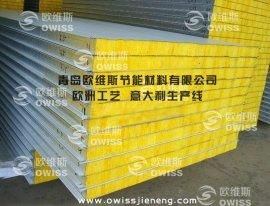新型防火玻璃丝棉夹芯隔墙板 /防火玻璃丝棉保温板