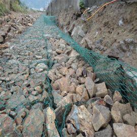 哈尔滨铁丝石笼生态网厂家、铅丝石笼网多钱一平米、绿格石笼图片